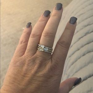Three stackable rings